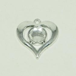 Herz Diamant silber