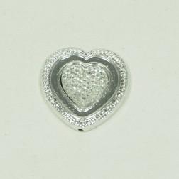 Herz Diamo silber 3 cm