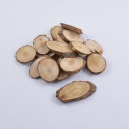 Holzscheiben dünn natur