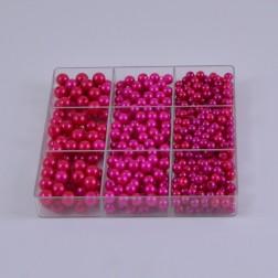 Perlen sort. in Box, verschiedene Farben