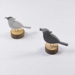Vogel auf Holzsch., verschiedene Größen