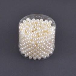 Perlen in der Runddose creme, 300 g,  verschiedene Größen