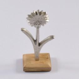 Alu-Blume auf Holzstand, verschiedene Größen