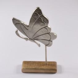 Alu-Schmetterl. auf Holzst.