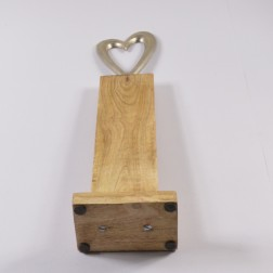 Holz-Alu-Herz, 46 cm