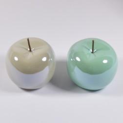 Apfel Santino salbei/grau, 15 cm