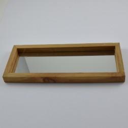 Tablett/Spiegel eckig braun