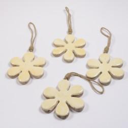 Holzblume Dari häng. 15 cm, verschiedene Farben