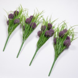 Allium Bush mit Grass, lila
