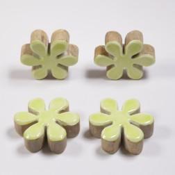Holzblume Dari, 11 cm, verschiedene Farben