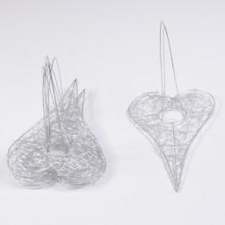 Herz Bouquethalter, 25 cm silber