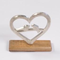 Alu-Herz mit Voegeln, verschiedene Größen