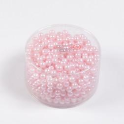 Perlen, rosa, 300 g, verschiedene Größen