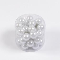Perlen, weiß, verschiedene Größen