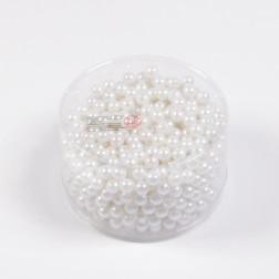 Perlen, weiß, 300 g, verschiedene Größen