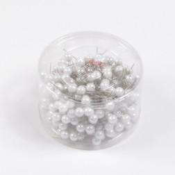 Perlkopf-Deconadeln, weiß, verschiedene Größen