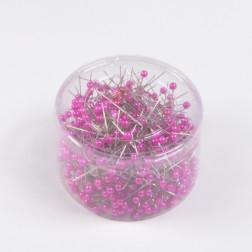 Perlkopf-Deconadeln, pink, verschiedene Größen