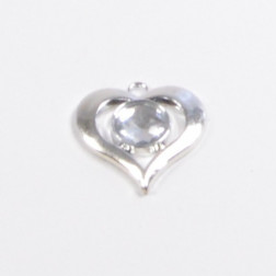 Herz Diamant silber, 3.5 cm