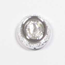 Brosche Diamant silber 3,5 cm