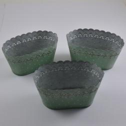 Metall-Jardiniere Bucky, 21 cm, verschiedene Farben
