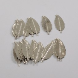 Metall-Feder, 9 cm, silber