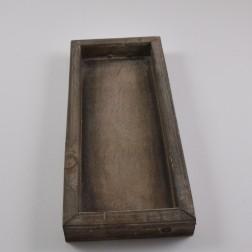 Holz-Schale eckig, braun, verschiedene Größen