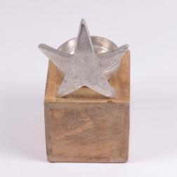 Alu-Stern mit Kerzenhalter, 21 cm