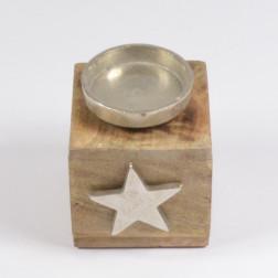 Alu-Stern mit Kerzenhalter, 12.5 cm