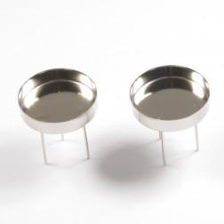 Metall-Kerzenhalter, silber