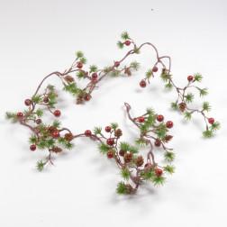Larinaro-Girlande, 127 cm, rot