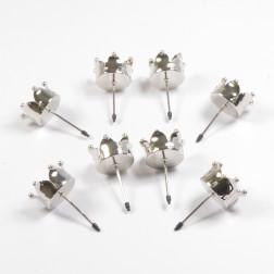 Teelichthalter Krone, 4 cm, verschiedene Farben
