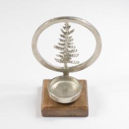 Alu-Baum im Ring Teelicht, silber, verschiedene Größen