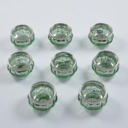 Glas Damino, grün, verschiedene Größen