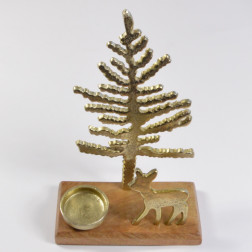 Alu-Hirsch mit Kerzenh., gold