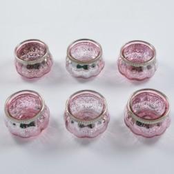 Glas Damino, rosa, verschiedene Größen