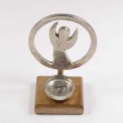 Alu-Engel im Ring Teelicht, verschiedene Größen