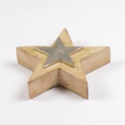 Holz/Alu-Stern, verschiedene Größen