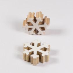 Holz-Schneeflocke, weiss