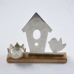 Alu-Vogelhaus/Vogel/Krone, verschiedene Größen