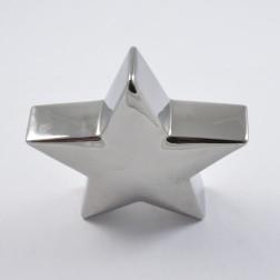 Stern Keramik silber, verschiedene Größen