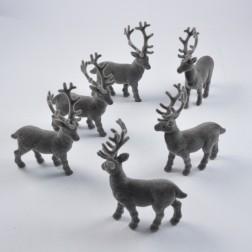 Hirsch, Samtlook grau, verschiedene Größen