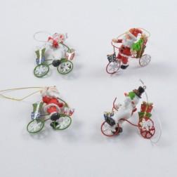 Santa/Schneem./Fahrrad sort.