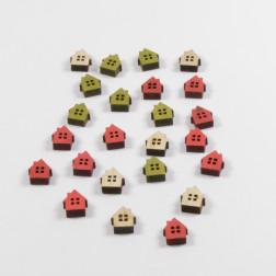 Holzhaus Streuer, verschiedene Farben