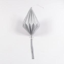 Ornament Plati rund silber