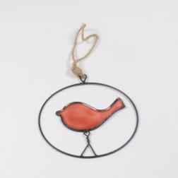 Vogel Michel in Ring, 15 cm, verschiedene Farben