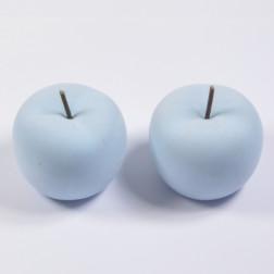 Apfel beflockt, hellblau, verschiedene Größen