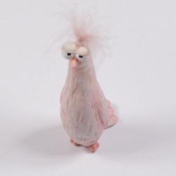 Vogel Dody, rosa, 16 cm