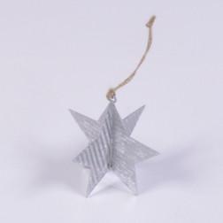 Metall-Stern Glitter, silber, verschiedene Größen
