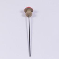 Holzpilz Arosa 5 cm rot am Pick