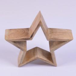 Holz-Stern Kantino offen, verschiedene Größen
